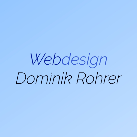 Webdesign Dominik Rohrer